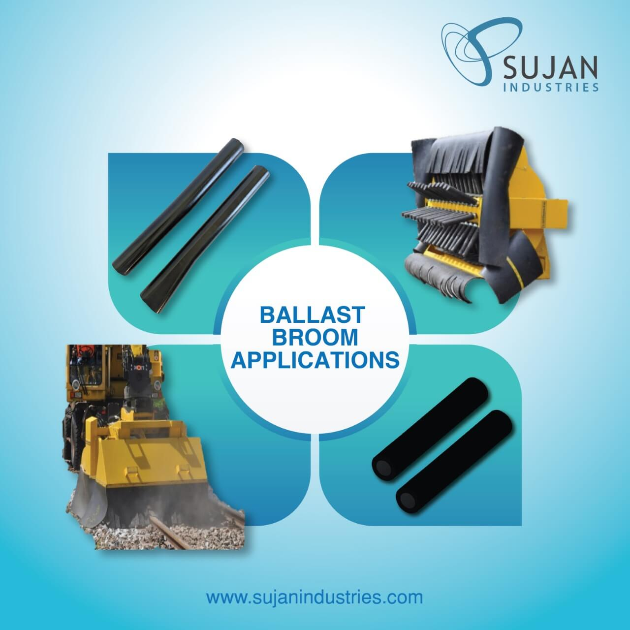 ballast broom element