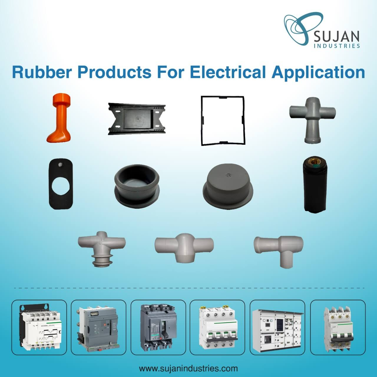 ruuber products in electrical industry